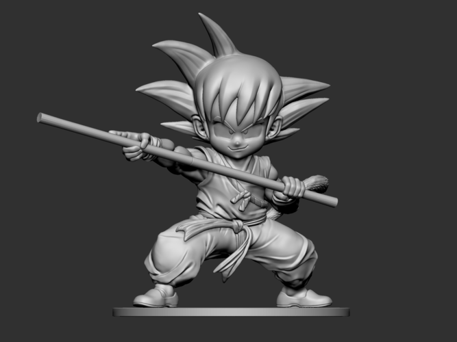 Son Goku Fan Art for 3Dprint 3D Print 217718