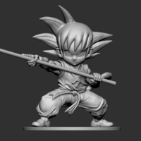 Small Son Goku Fan Art for 3Dprint 3D Printing 217718