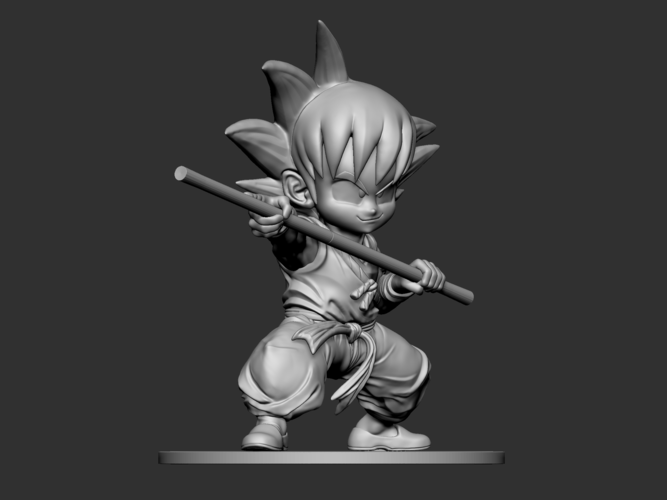 Son Goku Fan Art for 3Dprint 3D Print 217719