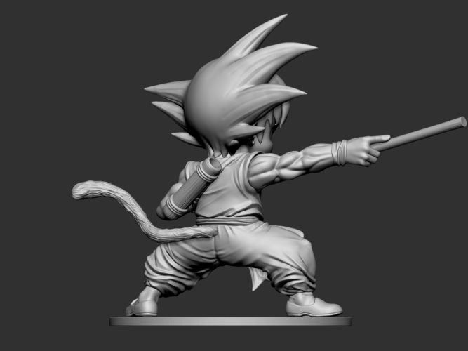 Son Goku Fan Art for 3Dprint 3D Print 217720