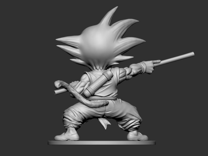 Son Goku Fan Art for 3Dprint 3D Print 217721