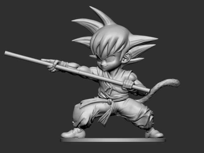 Son Goku Fan Art for 3Dprint 3D Print 217722