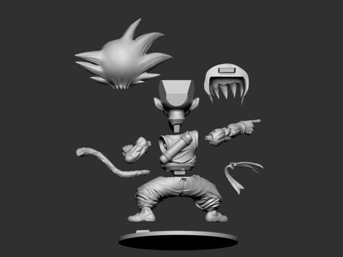 Son Goku Fan Art for 3Dprint 3D Print 217723