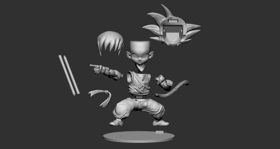 Son Goku Fan Art for 3Dprint 3D Print 217728
