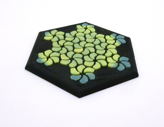 Tessellating Flower Coaster Reloaded 3D Print 21775