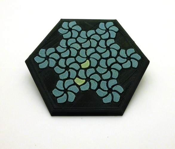 Tessellating Flower Coaster Reloaded 3D Print 21776