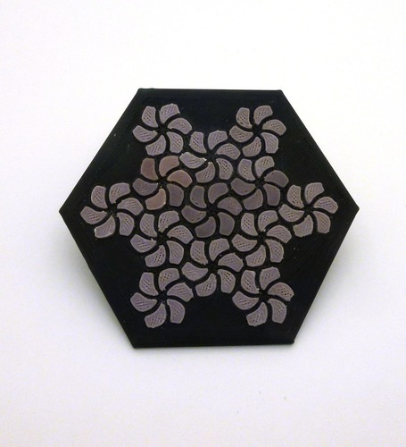 Tessellating Flower Coaster Reloaded 3D Print 21778