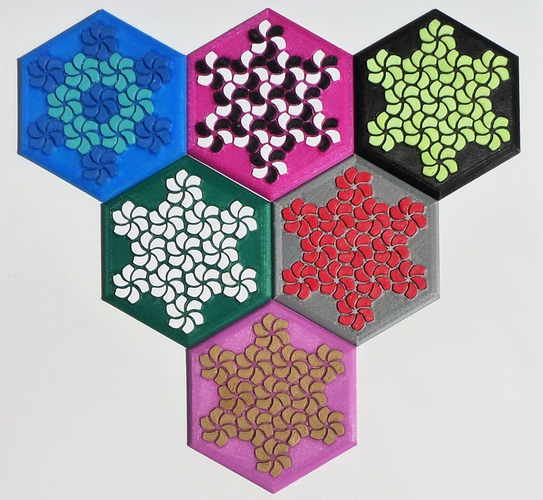 Tessellating Flower Coaster Reloaded 3D Print 21779