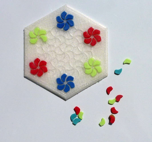 Tessellating Flower Coaster Reloaded 3D Print 21781