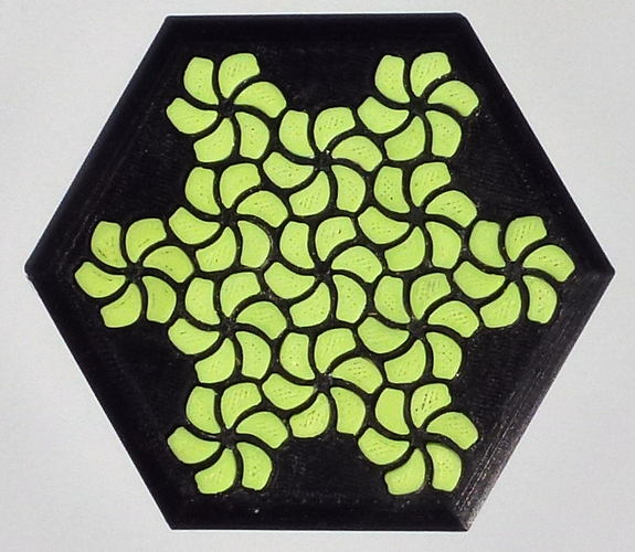 Tessellating Flower Coaster Reloaded 3D Print 21782