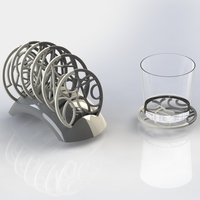 Small GEOMETRICAL COASTERS 3D Printing 217834