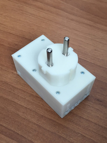 Schuko EU 230v, controlled timed output + relay (pass thru) 3D Print 218065