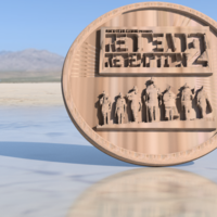 Small Red Dead Redemption 2 coaster 3D Printing 218167