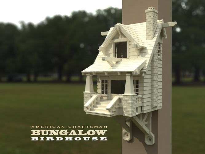 the American Craftsman Bungalow Birdhouse 3D Print 21825