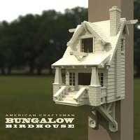 Small the American Craftsman Bungalow Birdhouse 3D Printing 21825