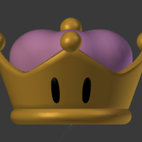 Small Bowsette crown 3D Printing 218325