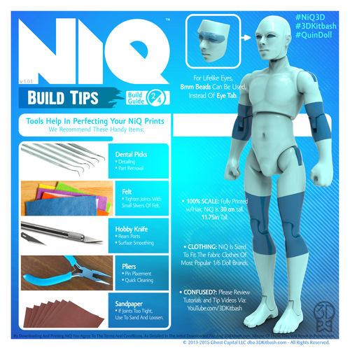 NiQ, The 3D-Printable Action Figure - by 3DKitbash.com 3D Print 21833