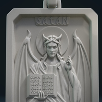 Small Satan Relief and Pendant 3D Printing 218351