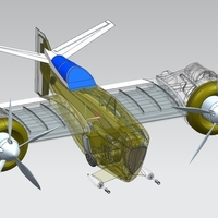 Small Fİghter air plane 3D Printing 218367