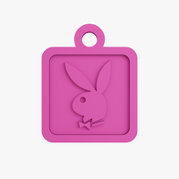 Small Playboy keychain 3D Printing 218403