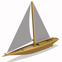 Small Sailing Boat 3D model  3D Printing 218493