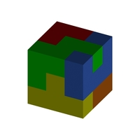 "Small 3-D Cube Puzzle 3"" X 3"" (Level 0001) 3D Printing 218589"
