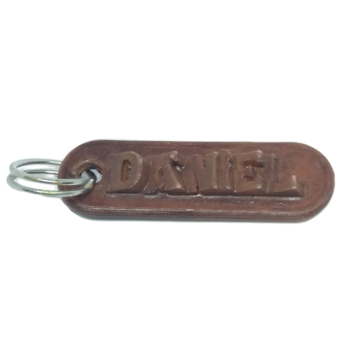 DANIEL Personalized keychain embossed letters 3D Print 218612