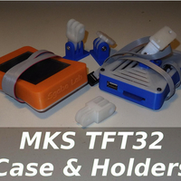 Small MKS TFT32 Case & Holders 3D Printing 218649