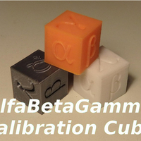 Small AlfaBetaGamma 20mm Calibration Cube 3D Printing 218651