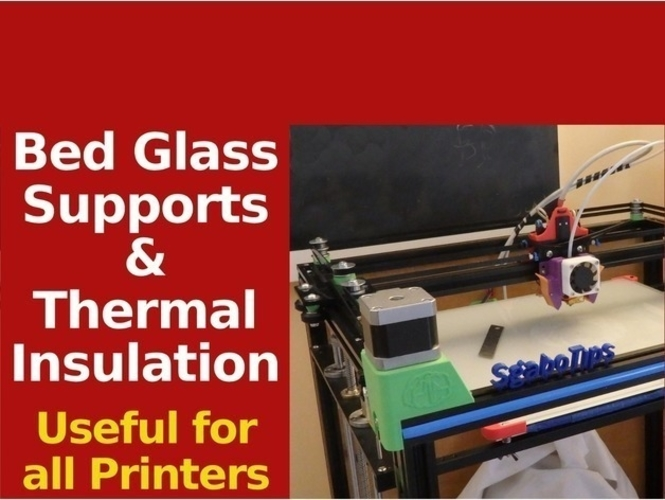 Bed Supports for Glass & Thermal Insulation - X5S & Others 3D Print 218664