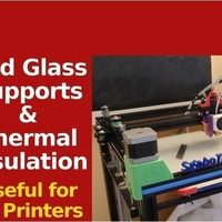 Small Bed Supports for Glass & Thermal Insulation - X5S & Others 3D Printing 218664