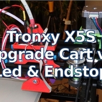 Small Tronxy X5S Upgrade Extruder Cart v2 - Leds & EndStop 3D Printing 218678