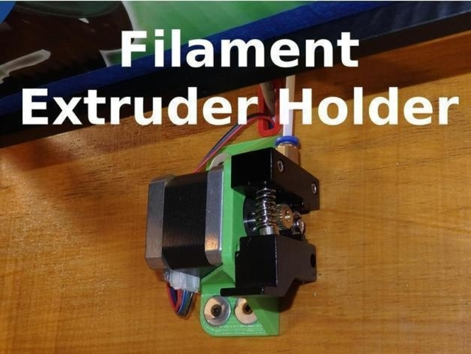 Filament Extruder Holder - X5S and Others 3D Print 218681