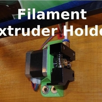 Small Filament Extruder Holder - X5S and Others 3D Printing 218681