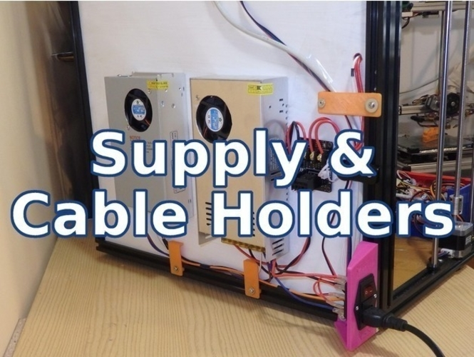 Supply & Cable Holder - Tronxy & Other Printers 3D Print 218690
