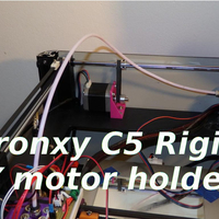 Small Tronxy C5 rigid Y motor holder  3D Printing 218694