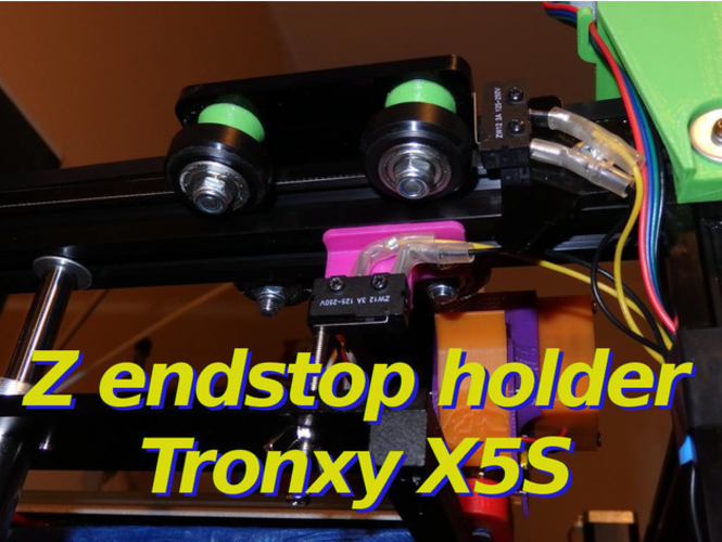 Z Endstop Holder - x5s and other printers 3D Print 218700