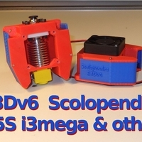 Small E3Dv6 Scolopendra Cooler for X5S, i3mega & other 3D Printing 218703