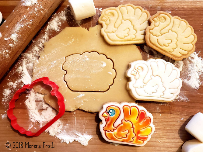 Turkey Cookie Cutter 3D Print 218723