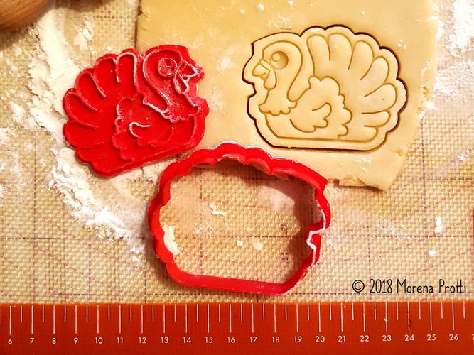 Turkey Cookie Cutter 3D Print 218725