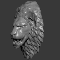 Small Lion Head 3D Printing 218735
