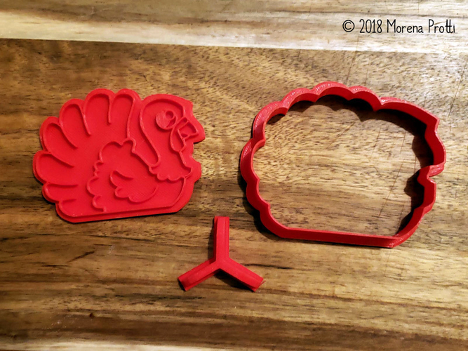 Turkey Cookie Cutter 3D Print 218736