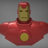Small Iron Man classic vintage wearable armor 3D print model 3D Printing 218751