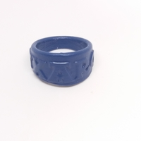 Small TXARO ring with embossed letters and customized 3D Printing 218754