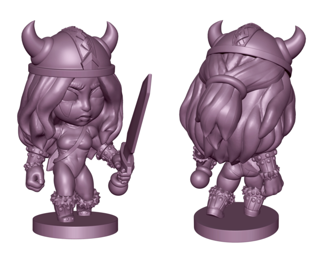 Viking Woman 3D Print 218822