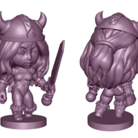 Small Viking Woman 3D Printing 218822