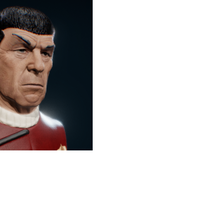 Small spock bust 3D Printing 218823