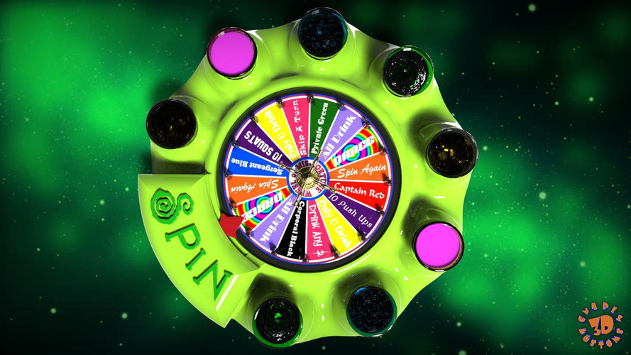 Wheel of Mis-fortune (Shot Drinking Game) 3D Print 218873