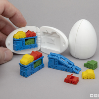 Small Surprise Egg #7 - Tiny Car Carrier 3D Printing 218888