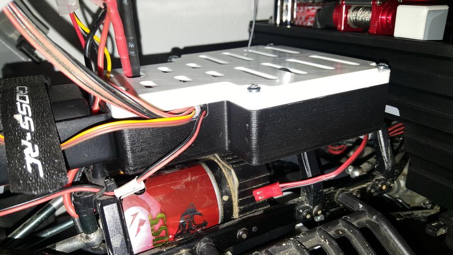 Crawler Scaler Cross-RC PG4 RC Box large ESC RX lightmodul